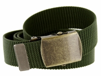Military Army Canvas Web Belt 1. 25 inch - Olive