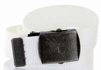 Military Army Canvas Web Belt 1. 25 inch - White
