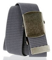 Military Army Canvas Web Belt 1. 5 inch - Gray