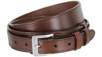"""Traditional Ranger Full Grain Smooth Leather Belt - 1 1/2"""" - 1"""" Wide BROWN"""