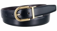 "2995 Reversible Leather Dress Belt - 1 1/8"" wide Available up to size 54"""