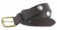 "3847 Casual Full Grain Leather Concho Belt - 1 1/2"" wide"