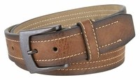 """NEW!! 2076 Men's Leather Belt And A Gun Metal Buckle 1 1/2"""" Wide"""