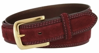 """NEW!!! 3220 Suede Leather Casual Dress Belt - 1 3/8"""" wide"""