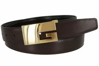 "1847 Reversible Dress Genuine Leather Belt Clamp Buckle - 1 1/8"" Wide"