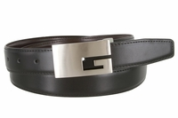 "1850 Reversible Dress Genuine Leather Belt Clamp Buckle - 1 1/8"" Wide"
