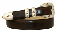1801 Hand Dyed Leather Dress Belt