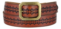"NEW!!! 3877 Vintage Style Full Grain Leather Casual Belt - 1 1/2"" Wide"