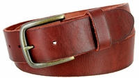 """3897 Vintage Full Grain Cowhide Leather Casual Jeans Belt 1-1/2"""" Wide - 5 COLORS AVAILABLE"""