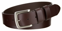 """3695 Double Loop Casual Leather Dress Belt  - 1 1/2"""" wide"""