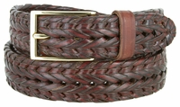 354 Braided Leather Dress Belt � 1 1/8� wide