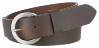 "3597 Women's Casual Oil Tanned Leather Belt - 1 3/8"" Wide MADE IN U.S."