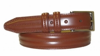 "2917 Center Stitched Leather Belt - 1 1/8"" wide SADDLE TAN"