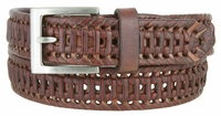 "352 Braided Leather Dress Belt - 1 1/8"" wide"