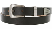 "Lady Spectre One Piece Genuine Leather Casual Dress Belt 1"" wide"