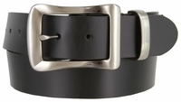 "4147 Smooth Genuine One Piece Leather Casual Belt 1-1/2"" wide"