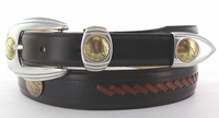 124 Western Leather Dress  Eagle Coin Replica Belt -FINAL SALE