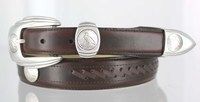 126 Western Leather Dress Eagle Coin Replica Belt - FINAL SALE
