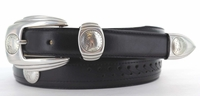 123 Western Leather Dress Indian Coin Replica Belt - FINAL SALE