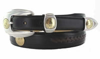 125 Western Leather Dress Indian Coin Replica Belt - FINAL SALE
