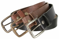 """3917 One Piece Hand-cut Genuine Full Grain Casual Leather Belt  Made in USA 1-1/2"""" Wide"""