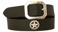 """4557 Casual Leather Conchos Belt - 1 1/2"""" wide"""