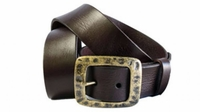 4132  Vintage Style Casual Leather Belt - 1 1/2 wide