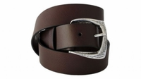 """4254 Casual Ful Grain Leather Belt - 1 1/2"""" wide BROWN"""