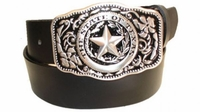 """2352 State Of Texas Full Grain Leather Jeans Belt - 1 1/2"""" wide - Available in size 60"""""""