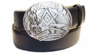 """2577 MASON Full Grain Leather Belt - 1 1/2"""" wide - Available in size 60"""""""