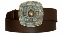 """3472 Causal Full Grain Leather Belt - 1 1/2"""" wide - Available in size 60"""""""