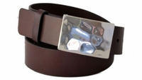 """4256 Casual Leather Belt - 1 1/2"""" wide - Available in size 60"""""""