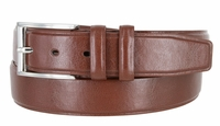 "Men's Genuine Leather Casual Dress Belt - 1 3/8"" wide BROWN"