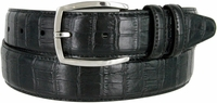 "MA133861 Genuine Leather Dress Casual Belt 1-3/8"" (35mm) wide with Nickel Plated Buckle"