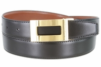 "1849 Reversible Leather  Belt Clamp Buckle - 1 1/8"" wide Available up to size 54"""