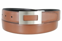 "1851 Reversible Leather Belt Clamp Buckle - 1 1/8"" wide Available up to size 54"""