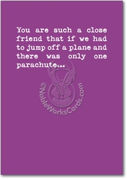 One Parachute Card