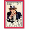 Uncle Sam Bacon Blank Card