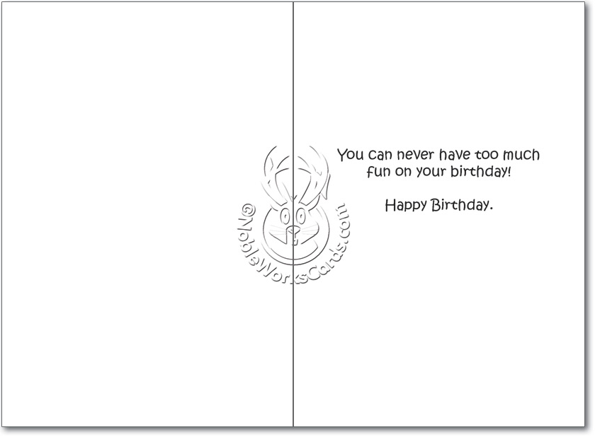 Nice Touch Funny Birthday Greeting CardNobleworks – Funny Birthday Card Text