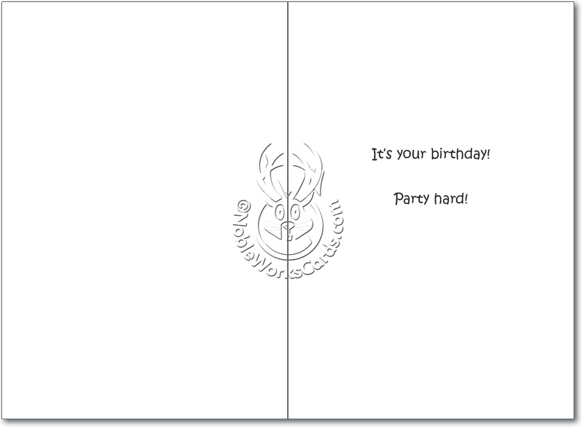 Hilarious Birthday Printed Card By Tim Whyatt From NobleWorksCards