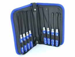 EXI 8pcs RC Tool Kit Handy Case/ Hexangular/ Screwdriver/ Sockets EXI-640-ToolCaseKit