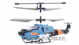 331 3-Channel  Co-axial  Helicopter RTF w/ Built in Gyro (Blue) RC Remote Control Radio