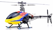 6-CH Dynam E-Razor 450-Metal Direct-Belt-Driven Brushless 3D  Helicopter Fully-Loaded Ready-to-Fly (2.4G-Red) RC Remote Control Radio