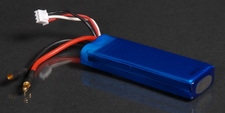 Blue LiPo 2-Cell 7.4V 1500mAh 15C High Performance Lithium Polymer Battery w/ 3.5mm Gold Banana Discharge BlueLipo-74v15c1500mAh
