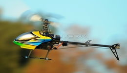 Dynam 6-Ch 2.4Ghz Carbon Fiber E-Razor 450-3D Metal  Helicopter RTF w/ Direct-Belt-Drive, 6CH Fully-Loaded  System, Lipo Battery, Brushless Motor+ESC RC Remote Control Radio