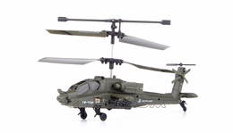 U803 3 Channel Apache Mini Indoor Co-Axial RC Helicopter w/ Built-in Gyro