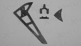 Carbon Fiber tail blade set 60P-ERZ-022-Carbon