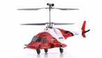 Exceed RC 2.4Ghz WarHawk 300 4-Channel Radio Remote Control RC Helicopter RTF Co-Axial  AirWolf- 100% Ready-to-Fly w/ Lipo Battery (Red)