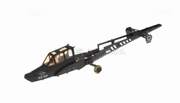 Components of the Large fuselage (Black) 28P-9006-01-Black