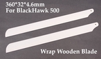 360*32*4.6mm BlackHawk Wrap Wooden Blade 02P10-WrapBlade